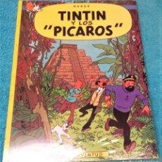 """Comics: LAS AVENTURAS DE TINTÍN: Y LOS """"PICAROS"""". HERGÉ. ÁLBUMES TAPA BLANDA. JUVENTUD.. Lote 224189165"""
