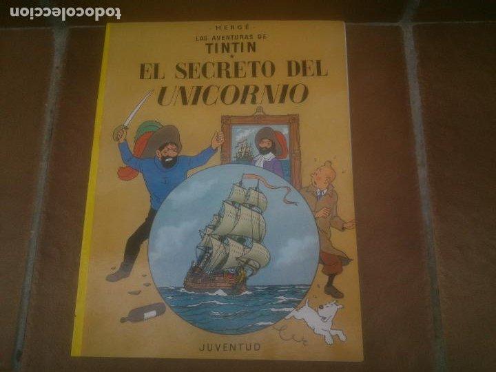 TINTIN EL SECRETO DEL UNICORNIO TINTIN HERGE EDITORIAL JUVENTUD 2003 TAPA BLANDA (Tebeos y Comics - Juventud - Tintín)