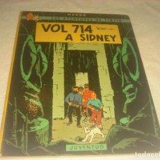 Cómics: LES AVENTURES DE TINTIN .VOL 714 A SIDNEY SEGONA EDICIO 1976 . EN CATALA. TAPA DURA.. Lote 224831845