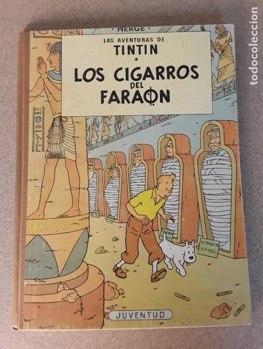 TINTIN LOS CIGARROS DEL FARAÓN JUVENTUD 2.ª EDICIÓN 1965 (Tebeos y Comics - Juventud - Tintín)