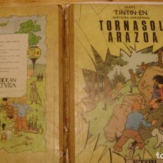 Comics : TINTIN EUSKERA ETOR MENSAJERO 1972 PRIMERA EDICION EUSKERA EL ASUNTO TORNASOL ARAZOA. Lote 225055815