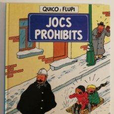 Cómics: QUICO I FLUPI, JOCS PROHIBITS (HERGE). Lote 225510395
