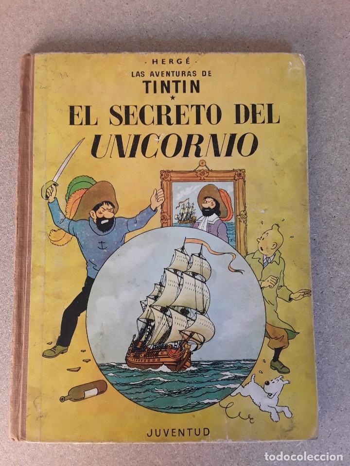 TINTIN EL SECRETO DEL UNICORNIO 3.ª EDICIÓN JUVENTUD 1965 (Tebeos y Comics - Juventud - Tintín)