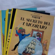 Cómics: LAS AVENTURAS DE TINTIN. 5 TOMOS EDITORIAL JUVENTUD / HERGE. Lote 227673080