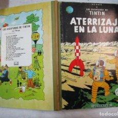 Cómics: TINTIN - ATERRIZAJE EN LA LUNA - JUVENTUD EDICION 1965 - TAPA DURA EXCELENTE + INFO. Lote 228183315