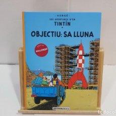 Cómics: LIBRO DE TINTÍN EN MALLORQUÍN (SALAT) - OBJECTIU SA LLUNA. Lote 228511035