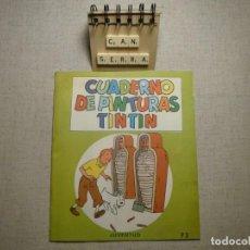Cómics: CUADERNO PINTURAS TINTÍN P3 JUVENTUD 1967. Lote 228641920