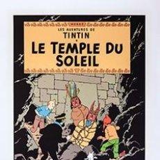 "Fumetti: TINTIN & MILOU"" LE TEMPLE DU SOLEIL"" SERIGRAFÍA ESCALE.PARIS ED. LIMITADA. Lote 229078125"