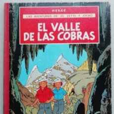 Comics : LAS AVENTURAS DE JO, ZETTE Y JOCKO. EL VALLE DE LAS COBRAS. HERGÉ. EDITORIAL JUVENTUD, 1ª ED. 1972.. Lote 229309915