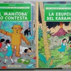 Comics : LAS AVENTURAS DE JO, ZETTE Y JOCKO. EL RAYO MISTERIOSO (2 VOL.). HERGÉ. ED. JUVENTUD, 1ª ED. 1971.. Lote 229311935