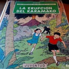 Cómics: LA ERUPCIÓN DEL KARAMAKO - LAS AVENTURAS DE JO, ZETTE Y JOCKO- HERGÉ - E. JUVENTUD, 1ª ED. 1971. Lote 229798515