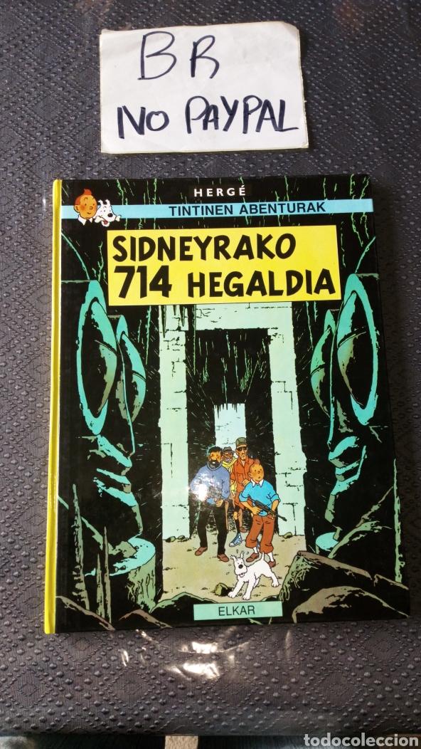 TINTIN EUSKERA SIDNEYRAKO 714 HEGALDIA ELKAR VER FOTOS ESTADO PRIMERA PÁGINA RALLAS A ROTU HERGE (Tebeos y Comics - Juventud - Tintín)