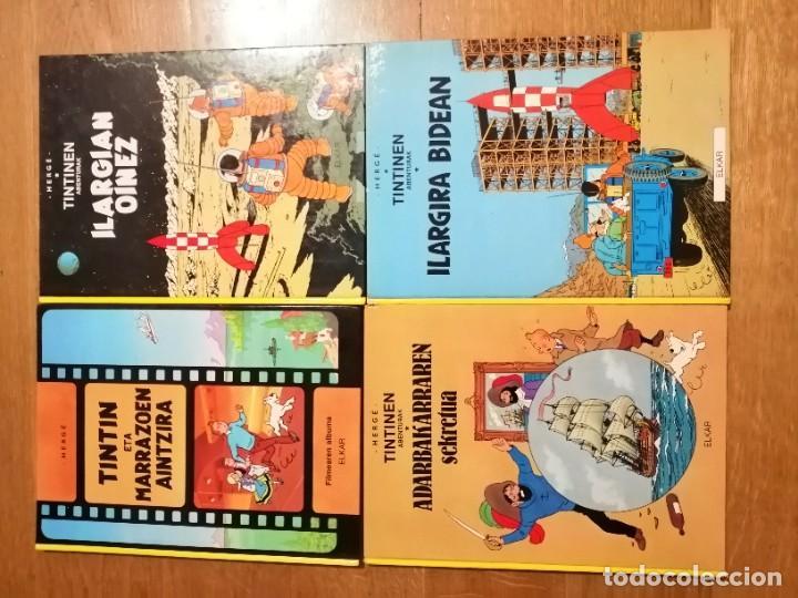 Cómics: Adarbakarraren Sekretua Marrazoen aintzira Ilargian Oinez Bidean Tintin abenturak Euskera Vasco - Foto 7 - 213233667