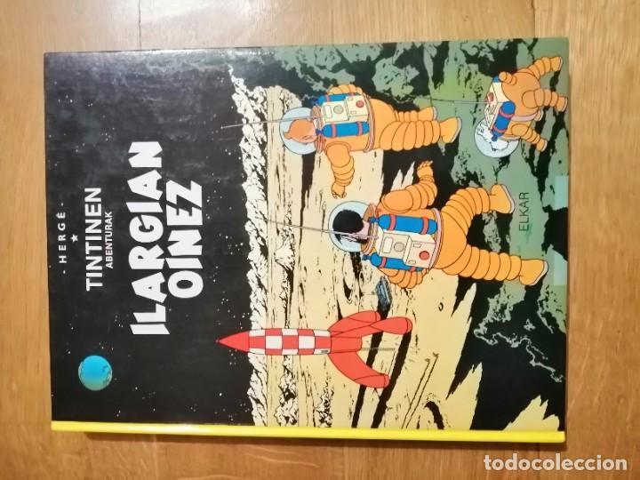 Cómics: Adarbakarraren Sekretua Marrazoen aintzira Ilargian Oinez Bidean Tintin abenturak Euskera Vasco - Foto 8 - 213233667
