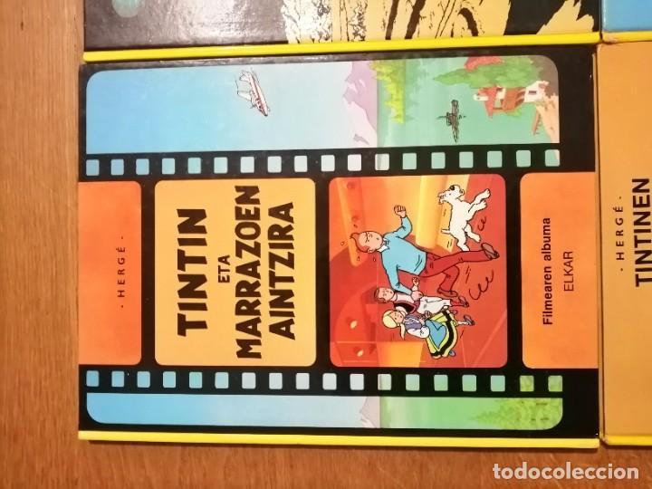 Cómics: Adarbakarraren Sekretua Marrazoen aintzira Ilargian Oinez Bidean Tintin abenturak Euskera Vasco - Foto 10 - 213233667