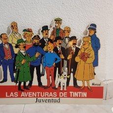 Cómics: CARTON TROQUELADO DE CARTON - STAND UP - LAS AVENTURAS DE TINTIN - EDITORIAL JUVENTUD - AÑOS '70. Lote 231661720
