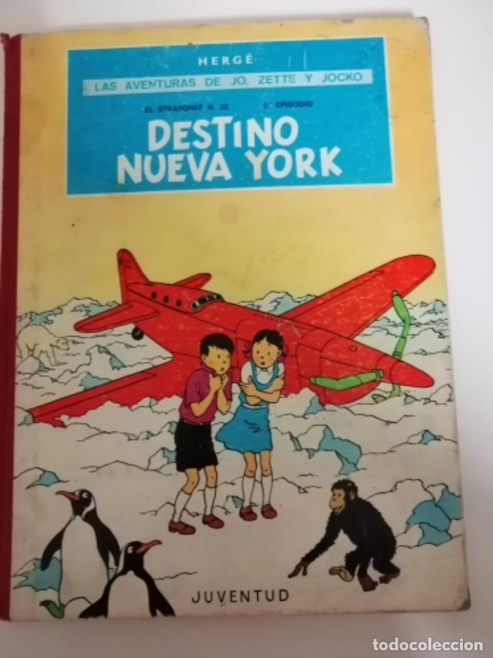 LAS AVENTURAS DE JO, ZETTE Y JOCKO. EL STRATONEF H. 22, 2º EPISODIO: DESTINO NUEVA YORK. 1ª EDICIÓN (Tebeos y Comics - Juventud - Otros)