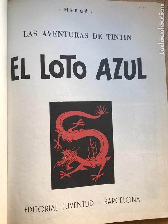 Cómics: Las aventuras de Tintin El loto azul - Foto 2 - 231824715