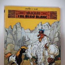 Cómics: YAKARI Nº 2 EL BISÓ BLANC - TAPA DURA JOVENTUT - CATALAN 1979 - DERIB + JOB. Lote 232030025