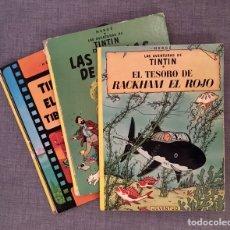 Cómics: LOTE TINTÍN LAGO TIBURONES 7 BOLAS CRISTAL TESORO RACKHAM ROJO HERGE JUVENTUD TAPA DURA. Lote 227977725