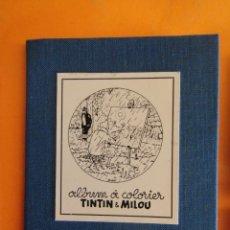 Cómics: PORTAFOLIO TINTIN ALBUM A COLORIER CON 13 DIBUJOS DE 9X7CM .. Lote 232868430