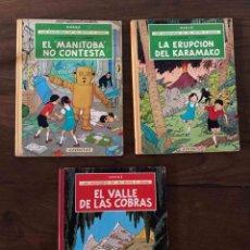 Comics : LAS AVENTURAS DE JO, ZETTE Y JOCKO. Nº 3, 4 Y 5 EDITORIAL JUVENTUD. CARTONÉ. Lote 233073830