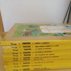 """Cómics: LOTE DE 11 """"TINTIN"""" EN CATALÁN ED. JUVENTUD.. Lote 234687995"""