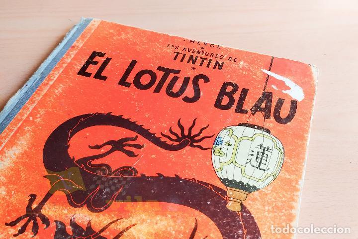 Cómics: El lotus blau - Les aventures de Tintin - 1965 - 1era Edició - En Català - Foto 2 - 234832235