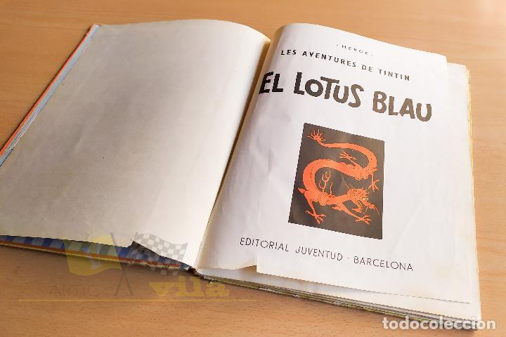 Cómics: El lotus blau - Les aventures de Tintin - 1965 - 1era Edició - En Català - Foto 5 - 234832235