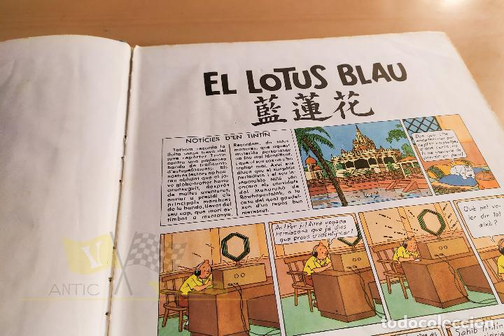 Cómics: El lotus blau - Les aventures de Tintin - 1965 - 1era Edició - En Català - Foto 7 - 234832235