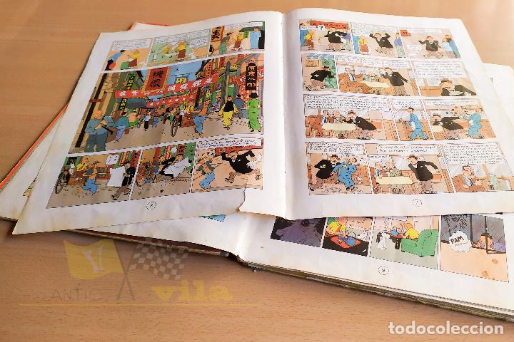 Cómics: El lotus blau - Les aventures de Tintin - 1965 - 1era Edició - En Català - Foto 8 - 234832235