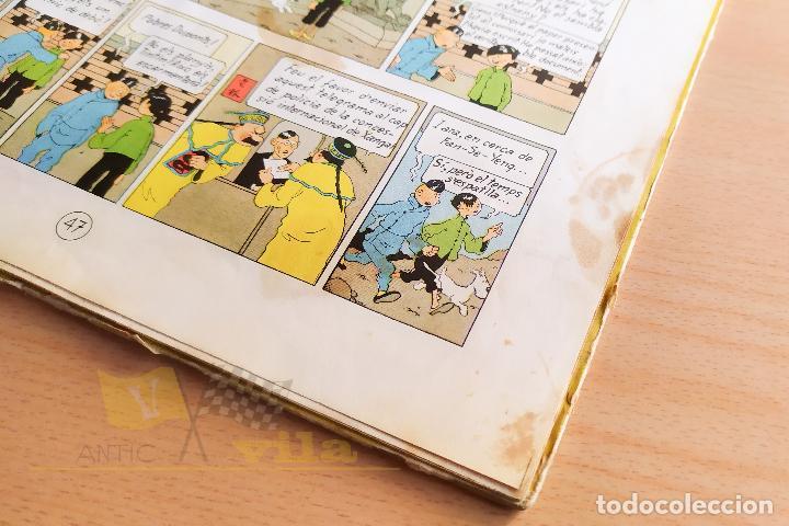 Cómics: El lotus blau - Les aventures de Tintin - 1965 - 1era Edició - En Català - Foto 12 - 234832235