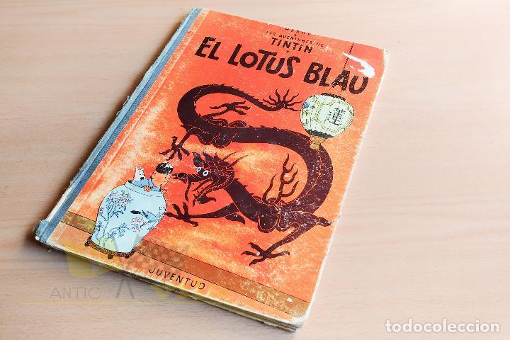 EL LOTUS BLAU - LES AVENTURES DE TINTIN - 1965 - 1ERA EDICIÓ - EN CATALÀ (Tebeos y Comics - Juventud - Tintín)