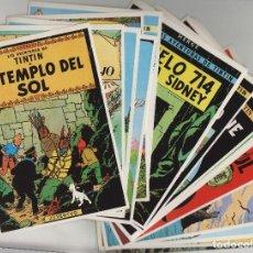 Cómics: TINTIN - LOTE DE 22 POSTAL - HERGE EDITORIAL JUVENTUD - AÑO 1983 . FOTOS DE TODO EL LOTE. Lote 235085830