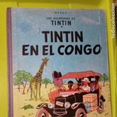 Cómics: TINTIN EN EL CONGO JUVENTUD 1968 1ª ED CANTO TELA TAPA DURA LEER COMPLETO 62 PAG. Lote 235244890