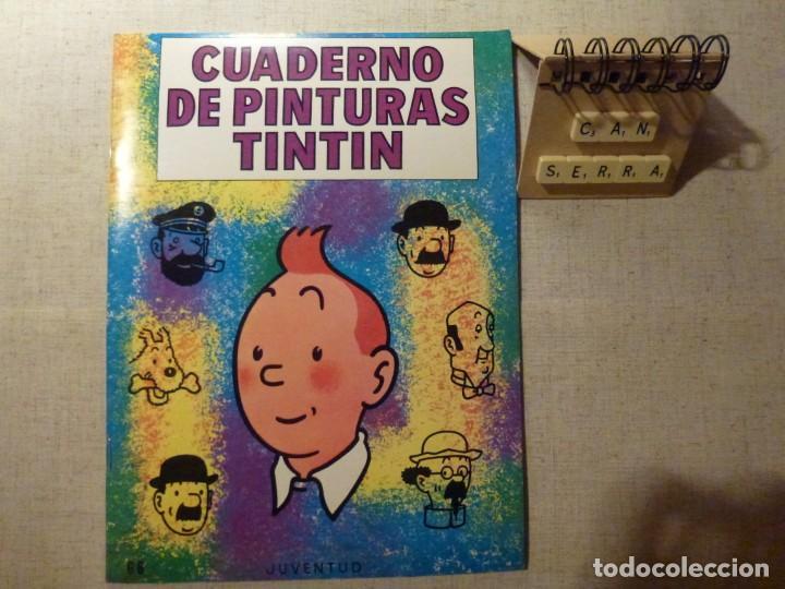 CUADERNO DE PINTURAS TINTÍN HERGÉ G 6 1967 (Tebeos y Comics - Juventud - Tintín)