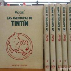 Cómics: COLECCION COMPLETA TINTIN Y MILU / 6 TOMOS + PAIS DE LOS SOVIETS DE REGALO / HERGE / JUVENTUD. Lote 235789820
