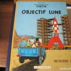 Comics : TINTIN OVJETIVO LA LUNA CASTERMAN 1953 ESTA EN FRANCES. Lote 265101914
