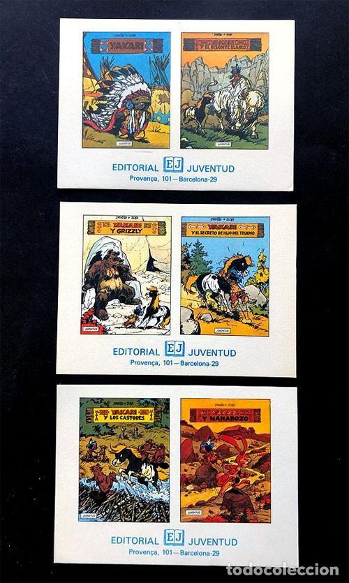 COLECCION YAKARI / TARJETAS DE PUBLICIDAD / SERIE COMPLETA / ED. JUVENTUD AÑOS 80 (Tebeos y Comics - Juventud - Yakary)