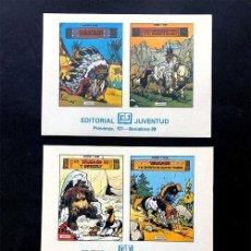 Cómics: COLECCION YAKARI / TARJETAS DE PUBLICIDAD / SERIE COMPLETA / ED. JUVENTUD AÑOS 80. Lote 236211625