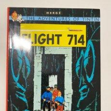 Cómics: THE ADVENTURES OF TINTIN. FLIGHT 714. HERGÉ. EDICIONES DEL PRADO. 1968. Lote 236230895