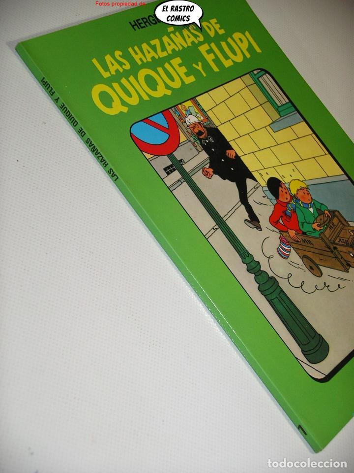 Cómics: Las hazañas de Quique y Flupi tomo nº 1, Hergé, ed. Juventud, 1ª edición 1987, album, 26C - Foto 2 - 236472545