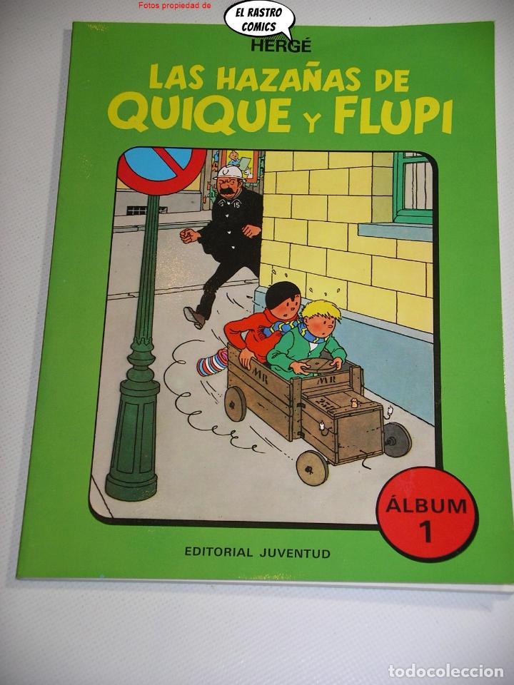 LAS HAZAÑAS DE QUIQUE Y FLUPI TOMO Nº 1, HERGÉ, ED. JUVENTUD, 1ª EDICIÓN 1987, ALBUM, 26C (Tebeos y Comics - Juventud - Tintín)