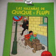 Cómics: LAS HAZAÑAS DE QUIQUE Y FLUPI TOMO Nº 1, HERGÉ, ED. JUVENTUD, 1ª EDICIÓN 1987, ALBUM, 26C. Lote 236472545