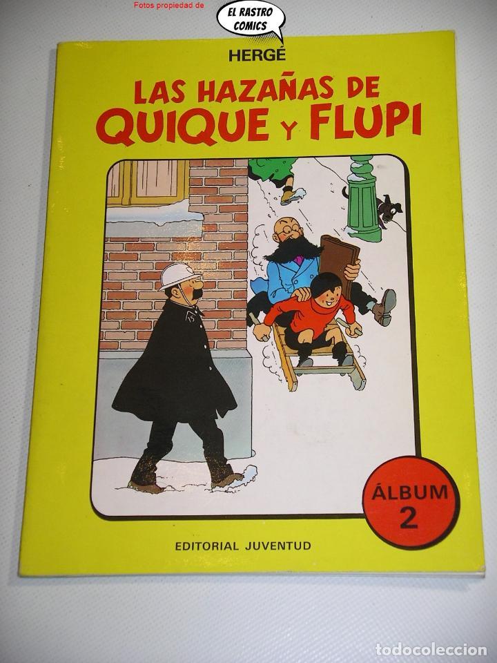 LAS HAZAÑAS DE QUIQUE Y FLUPI TOMO Nº 2, HERGÉ, ED. JUVENTUD, 1ª EDICIÓN 1987, ALBUM, 26C (Tebeos y Comics - Juventud - Tintín)