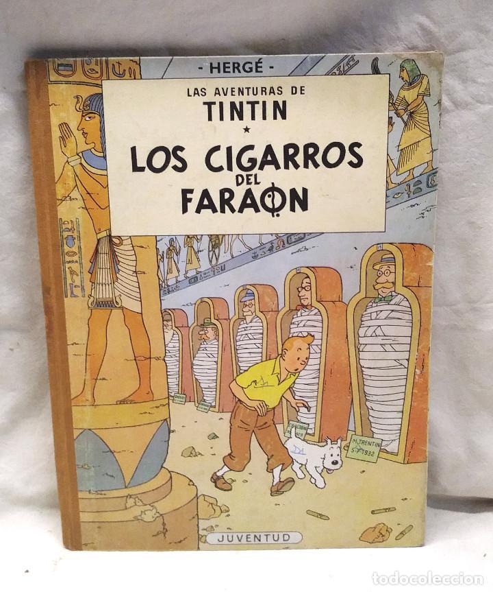 LOS CIGARROS DEL FARAÓN AÑO 64 1ERA EDICIÓN EDITORIAL JUVENTUD (Tebeos y Comics - Juventud - Tintín)