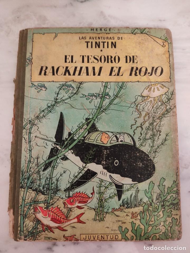 TINTIN - EL TESORO DE RACKHAM EL ROJO - EDITORIAL JUVENTUD DE 1967 (Tebeos y Comics - Juventud - Tintín)