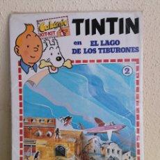 Cómics: CALCÓMIC KIT-KIT DE TINTIN -EL LAGO DE LOS TIBURONES- (1982). Lote 238066415