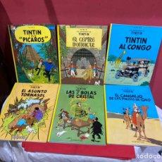 Fumetti: LOTE DE 6 UNIDADES TINTIN EDICIÓN CATALÁN AÑOS 80/90. PORTADAS GORDAS . EXCELENTE ESTADO. VER FOTOS. Lote 241945965
