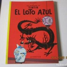 Cómics: HERGE LAS AVENTURAS DE TINTIN EN EL LOTO AZUL 1996 DECIMOSEXTA EDICION. Lote 243493990